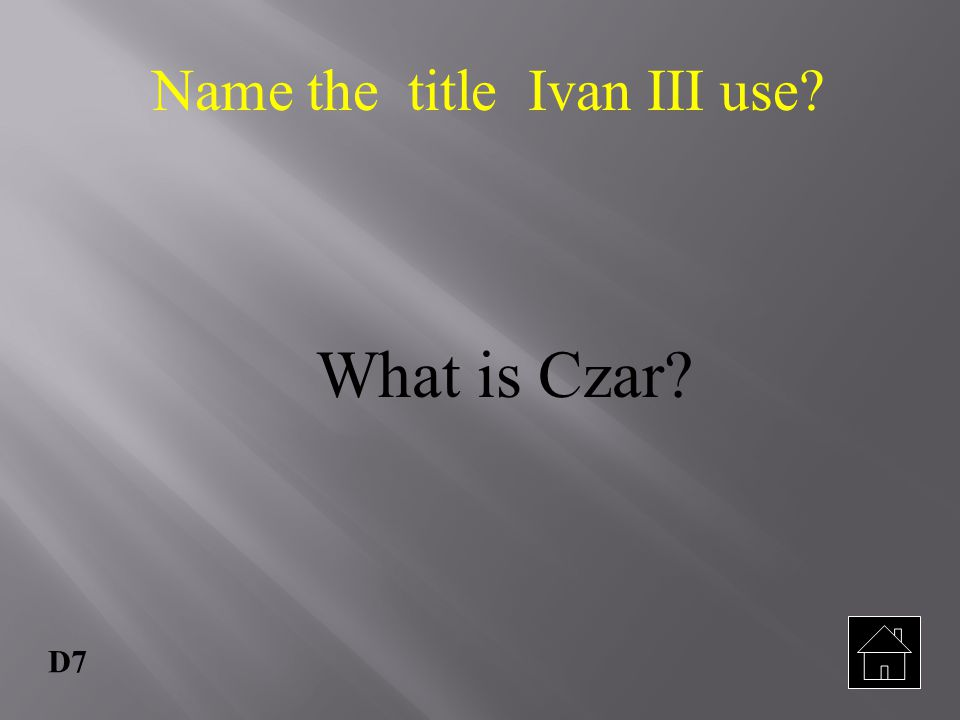 Name the title Ivan III use