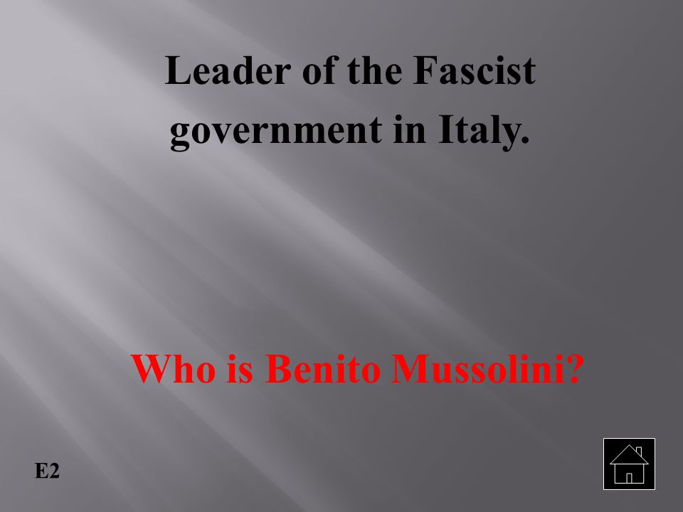 Who is Benito Mussolini
