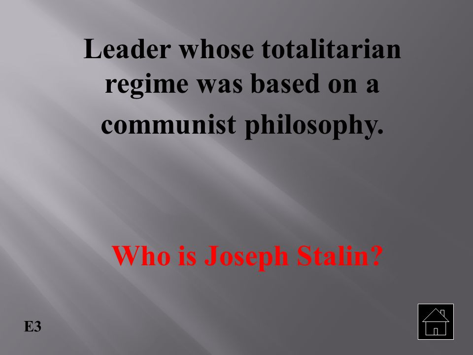 Leader whose totalitarian regime was based on a communist philosophy.