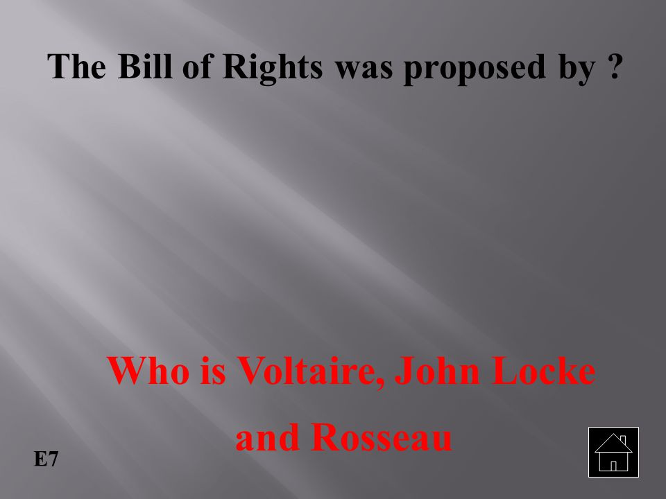 Who is Voltaire, John Locke and Rosseau