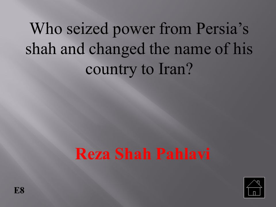 Who seized power from Persia's shah and changed the name of his country to Iran