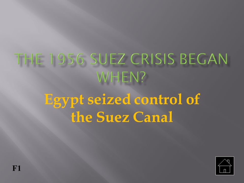 The 1956 Suez Crisis began when