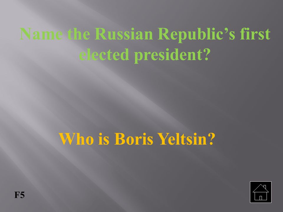 Name the Russian Republic's first elected president