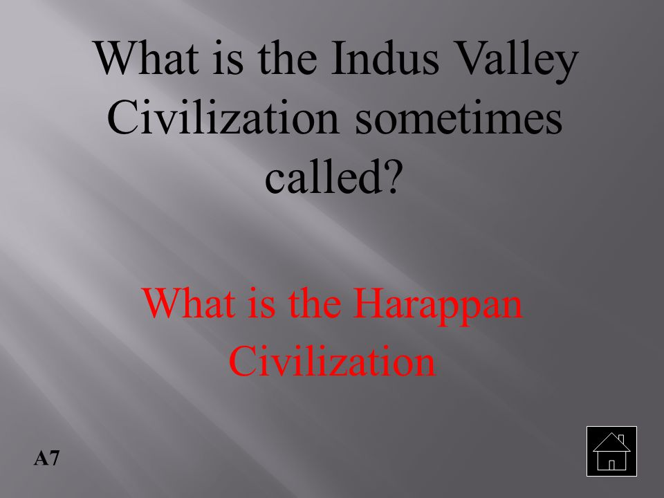 What is the Indus Valley Civilization sometimes called