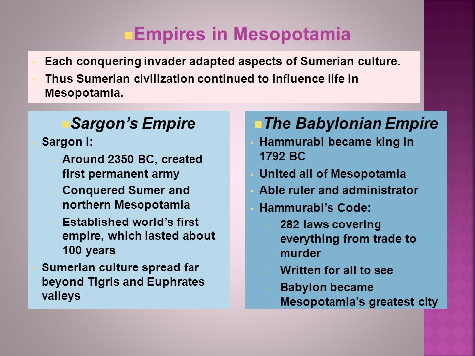 Empires in Mesopotamia