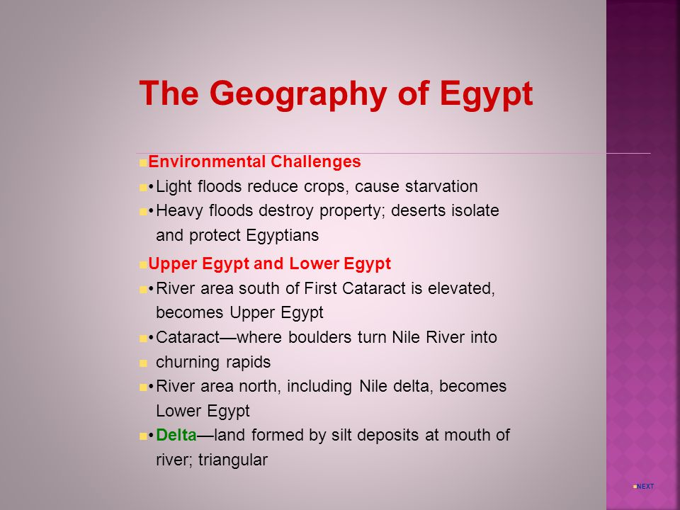 The Geography of Egypt Environmental Challenges