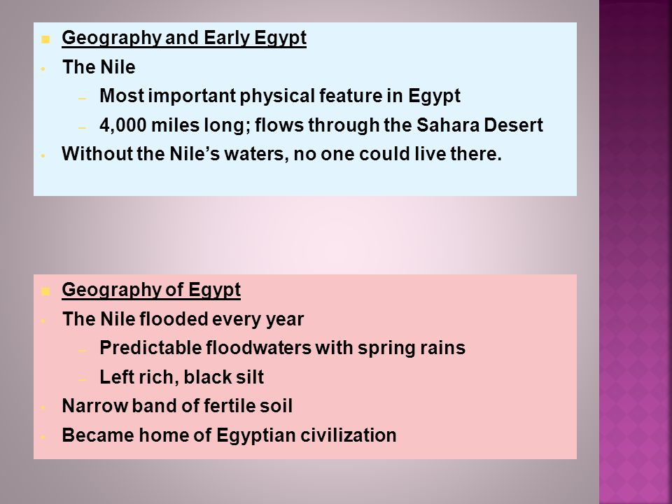 Geography and Early Egypt