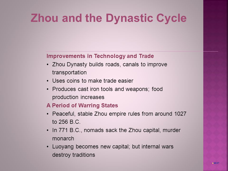 Zhou and the Dynastic Cycle