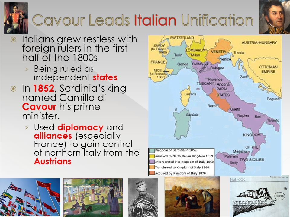 Cavour Leads Italian Unification