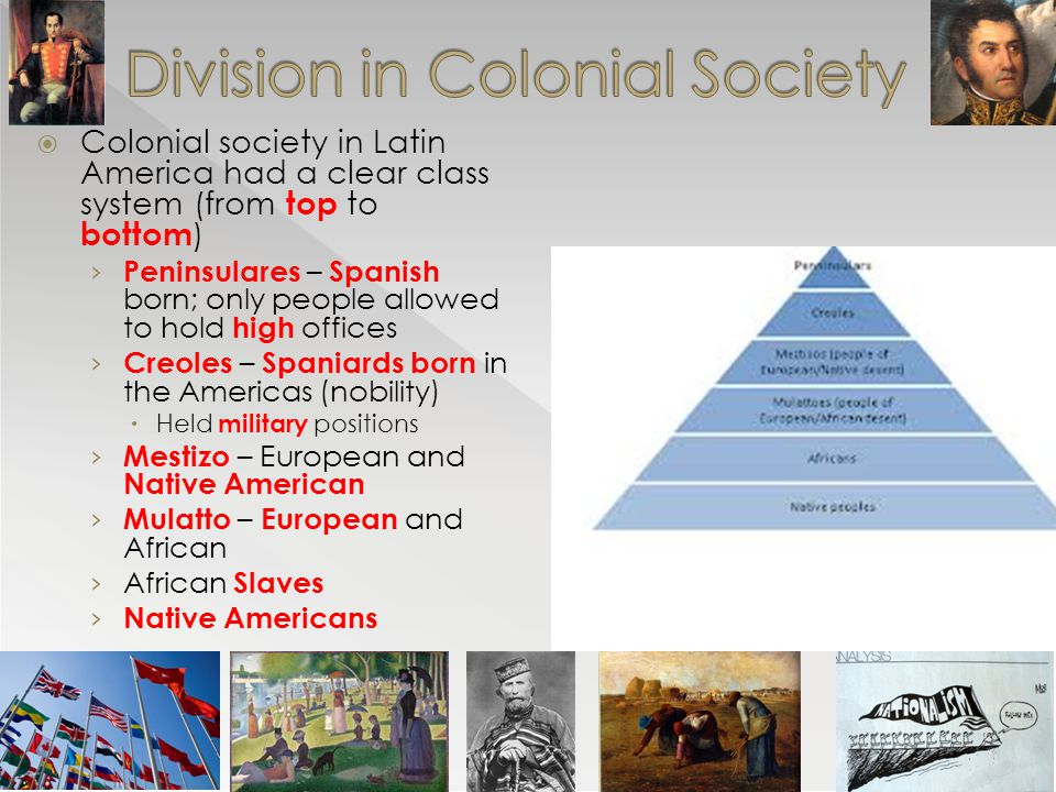 Division in Colonial Society