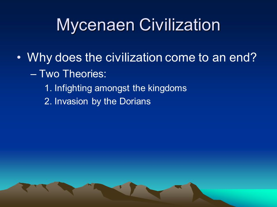 Mycenaen Civilization