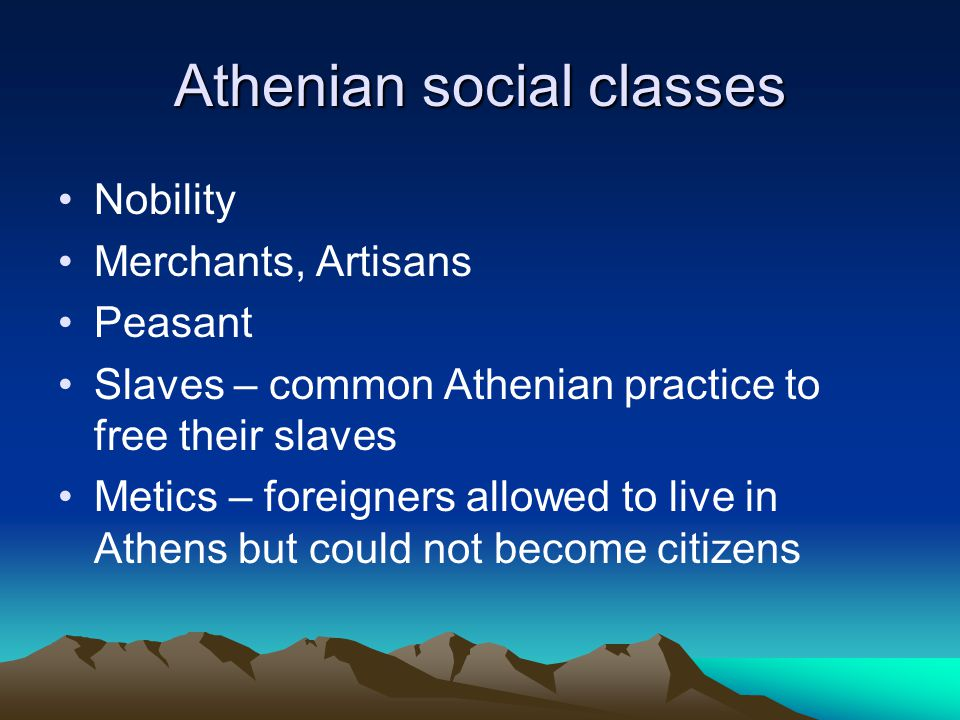 Athenian social classes