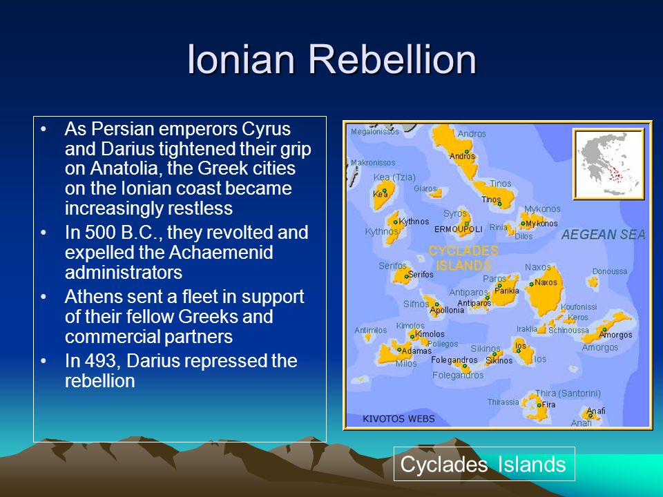 Ionian Rebellion Cyclades Islands