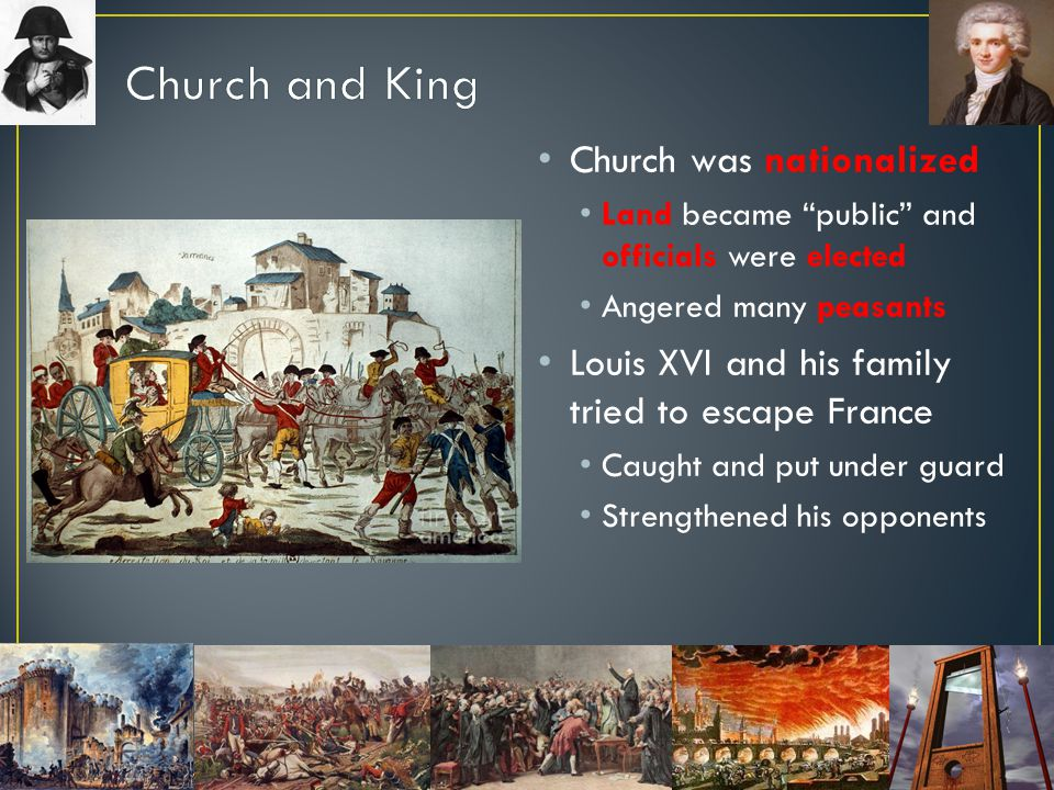 Church and King Church was nationalized