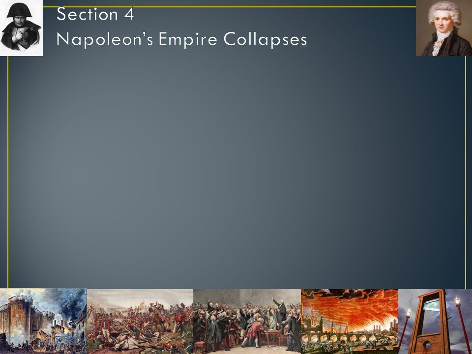 Section 4 Napoleon's Empire Collapses