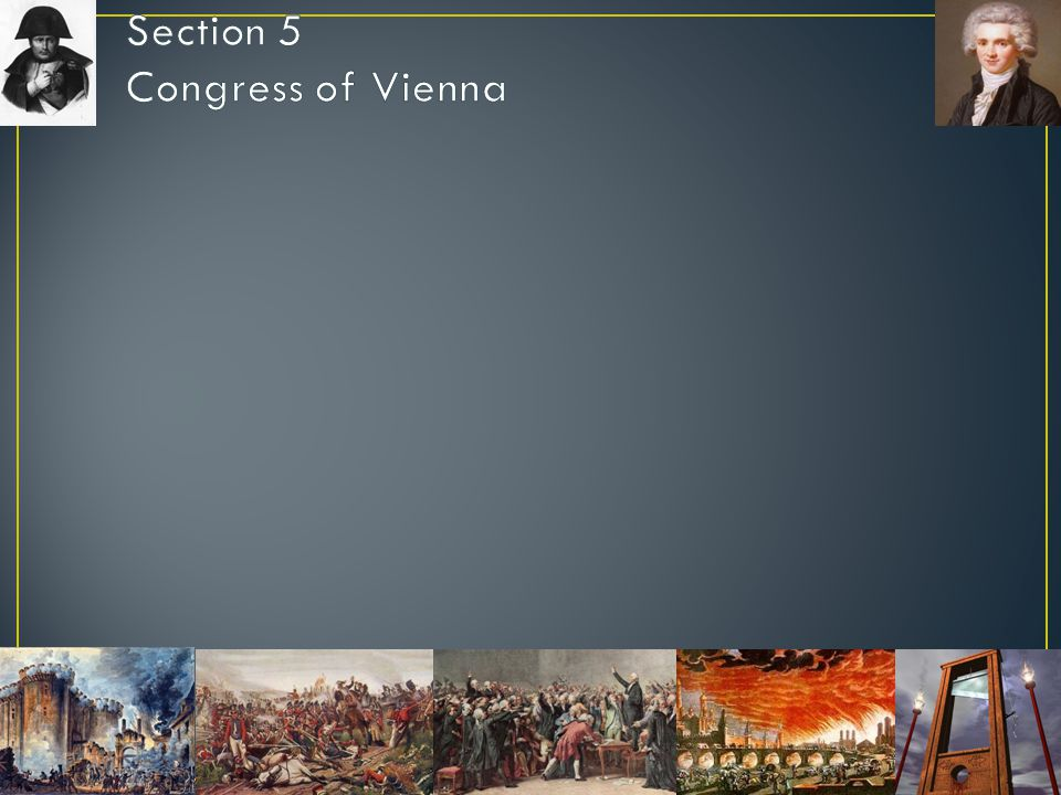 Section 5 Congress of Vienna