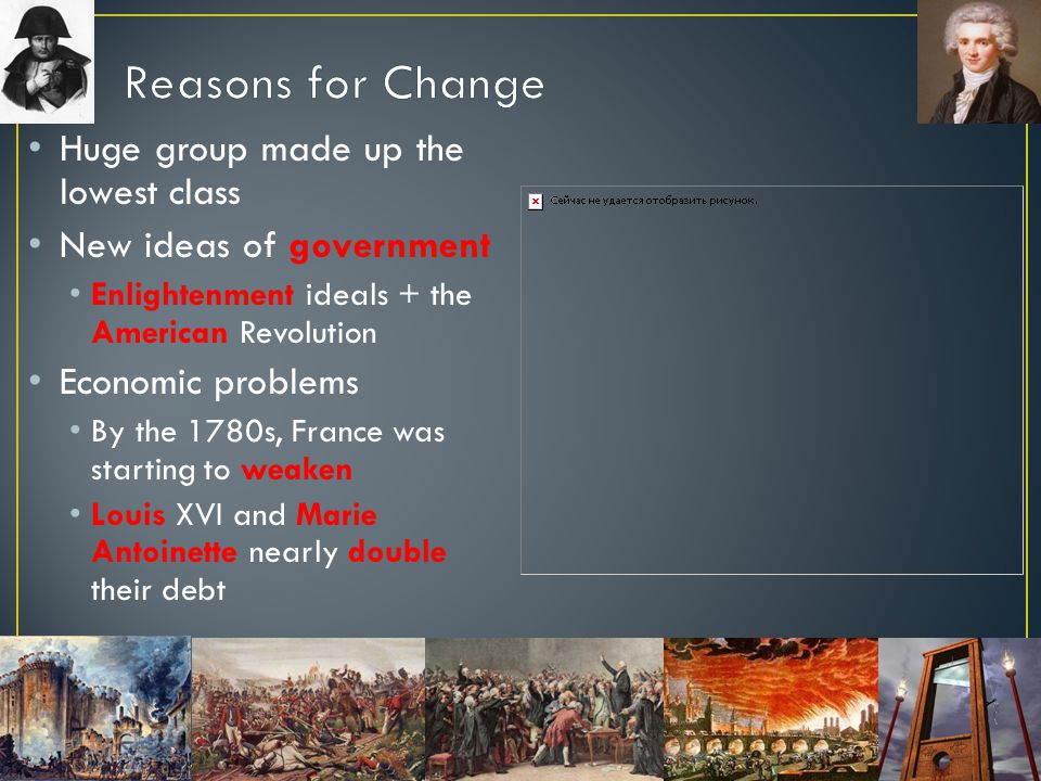 Reasons for Change Huge group made up the lowest class