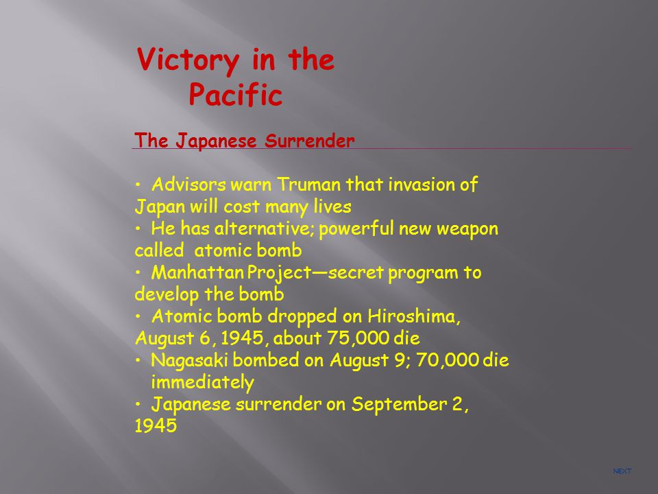 Victory in the Pacific The Japanese Surrender