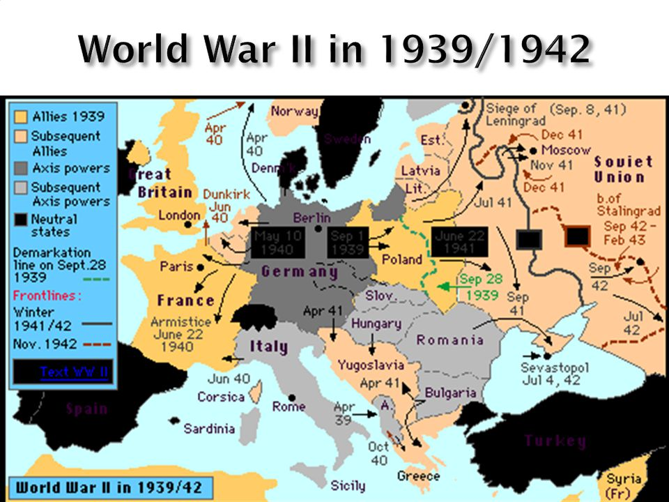 World War II in 1939/1942