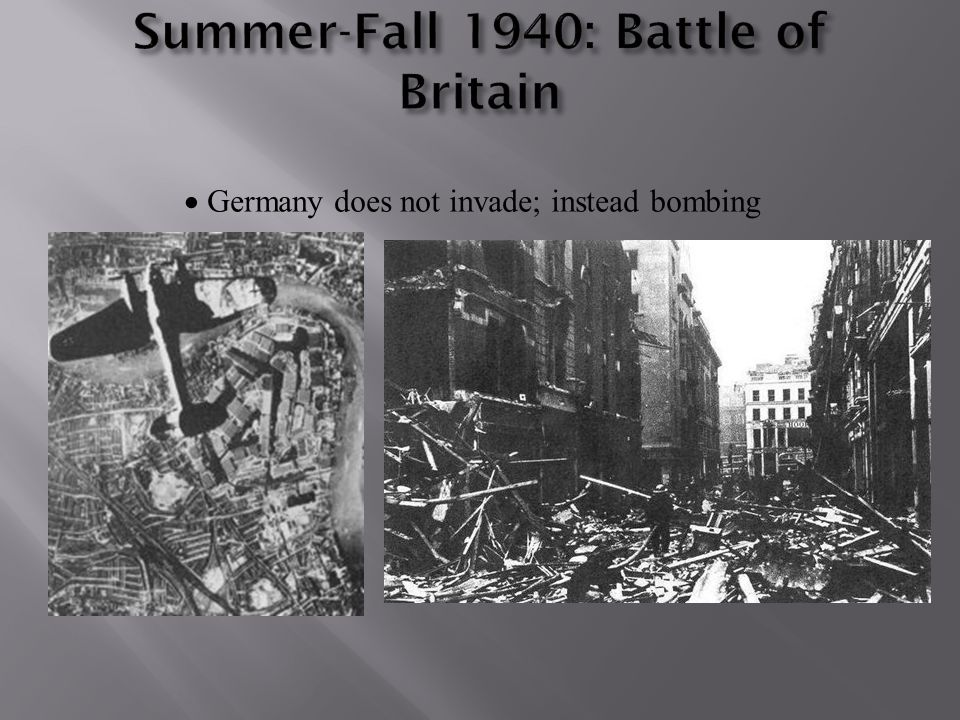 Summer-Fall 1940: Battle of Britain