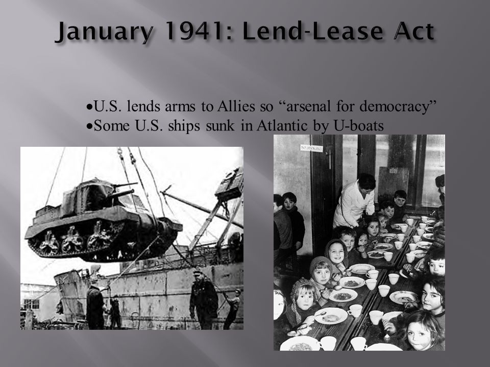 January 1941: Lend-Lease Act