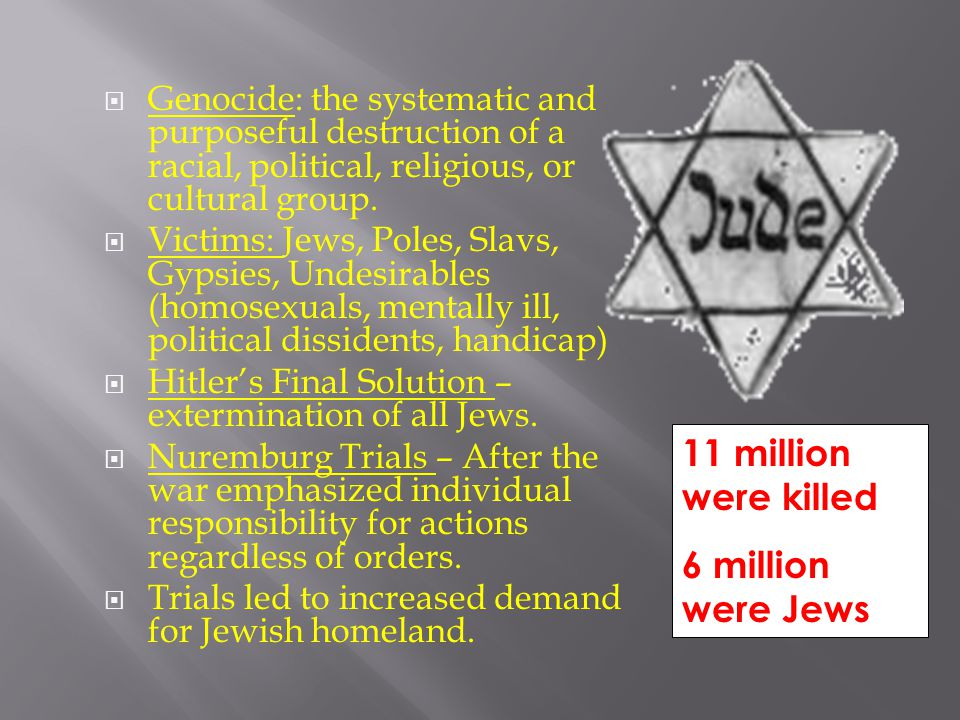 11 million were killed 6 million were Jews
