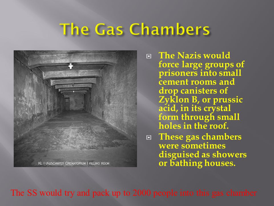 The SS would try and pack up to 2000 people into this gas chamber