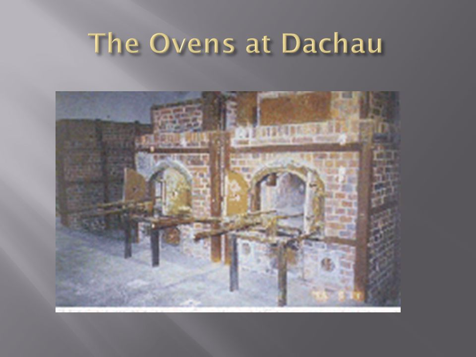 The Ovens at Dachau