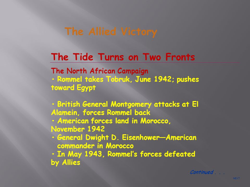 The Allied Victory The Tide Turns on Two Fronts