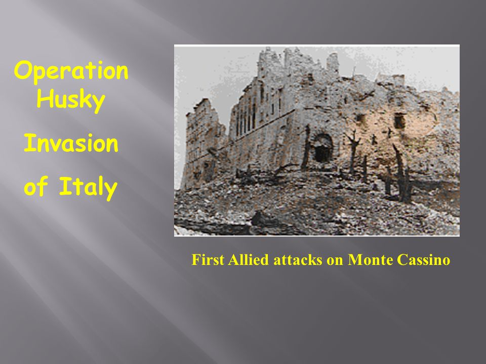 Operation Husky Invasion of Italy