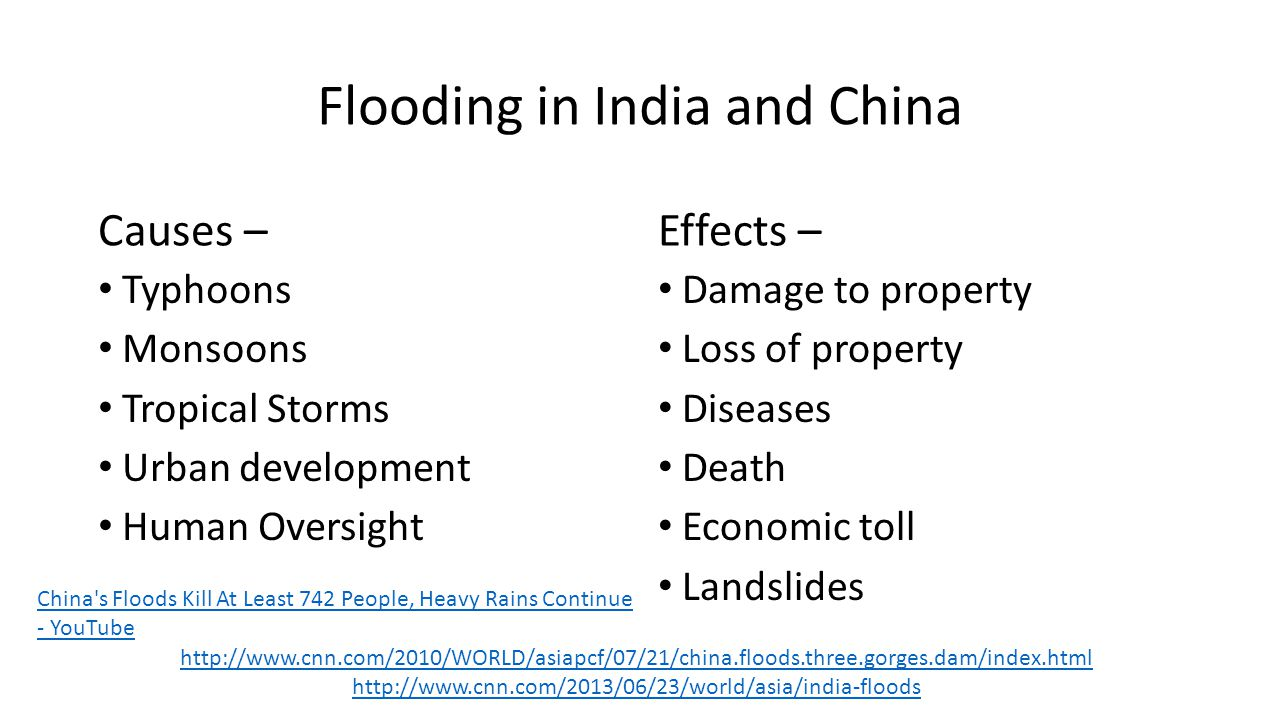 Flooding in India and China