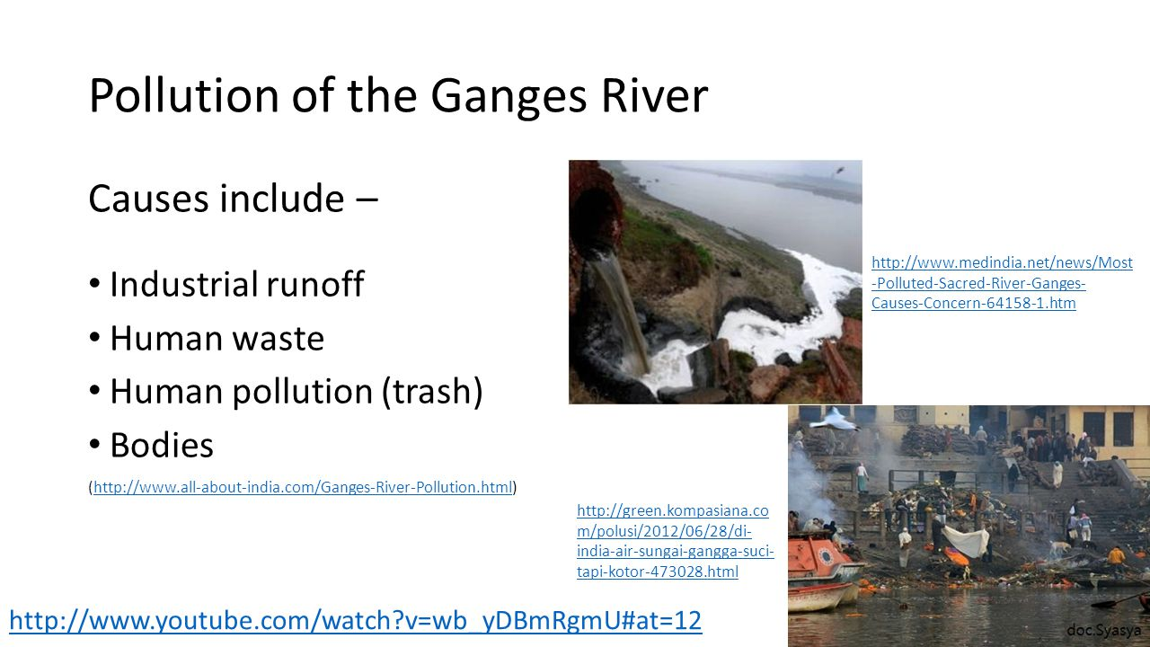 Pollution of the Ganges River