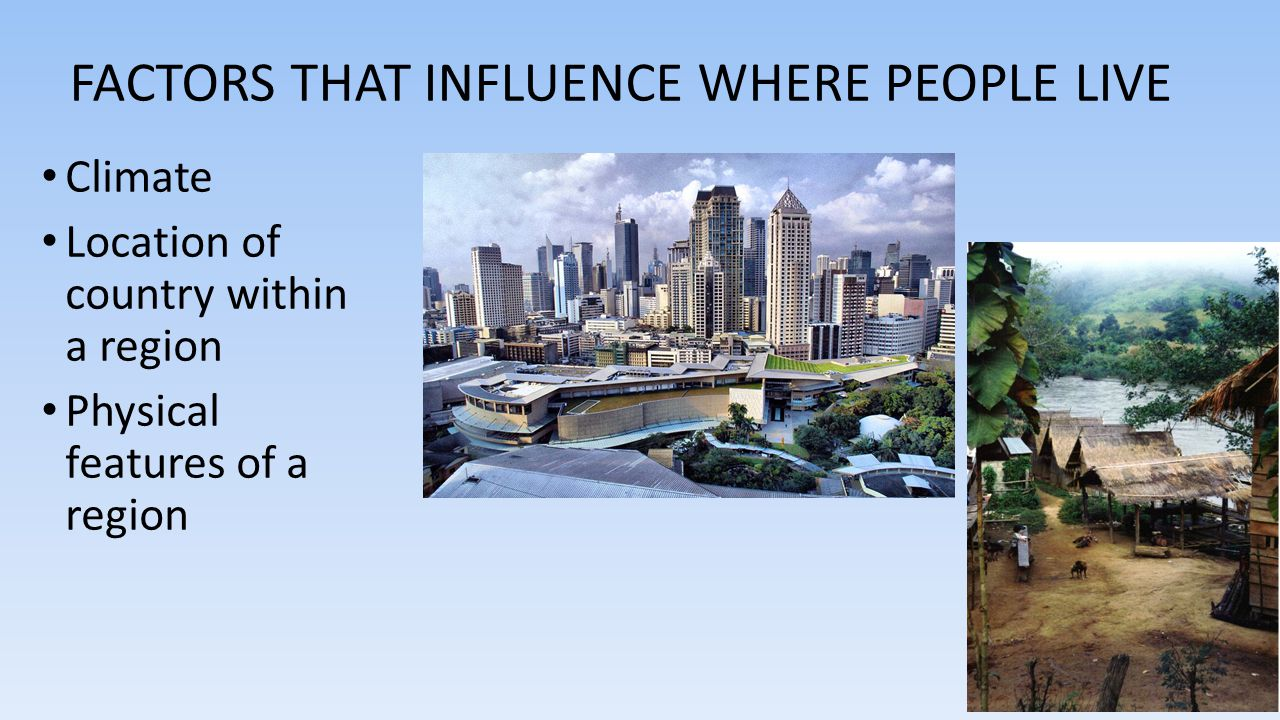 Factors that influence where people live