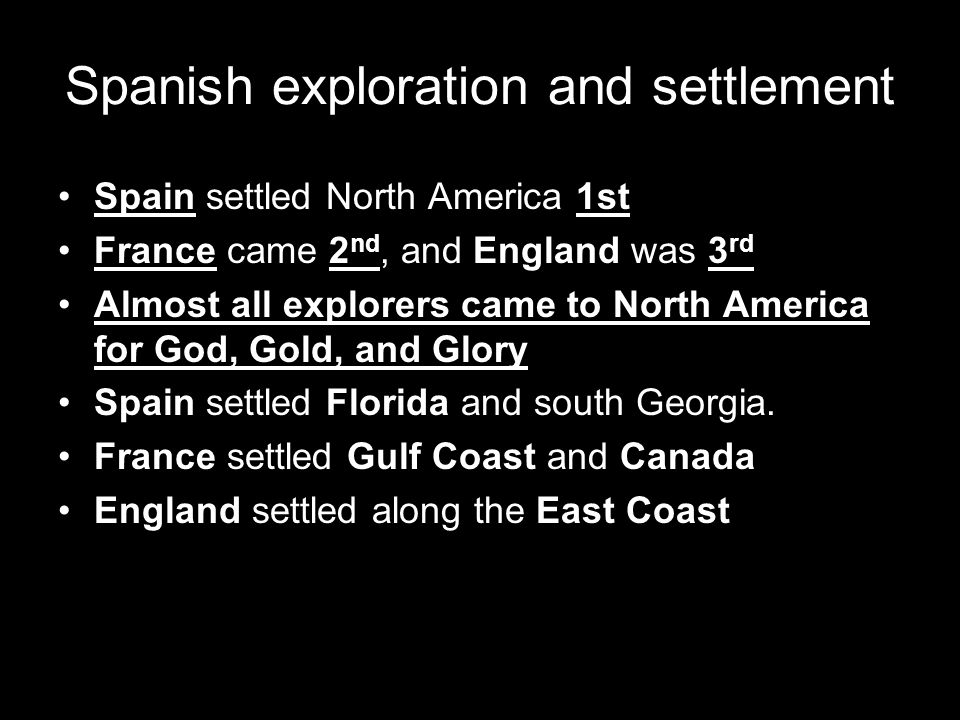 Spanish exploration and settlement