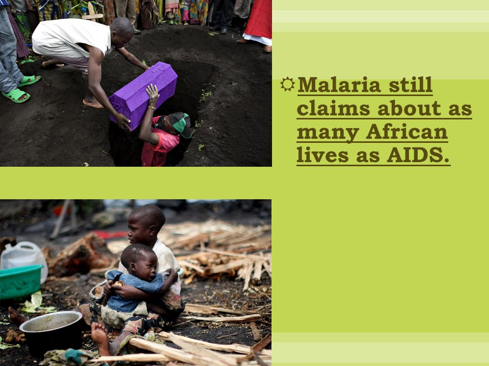 Malaria still claims about as many African lives as AIDS.