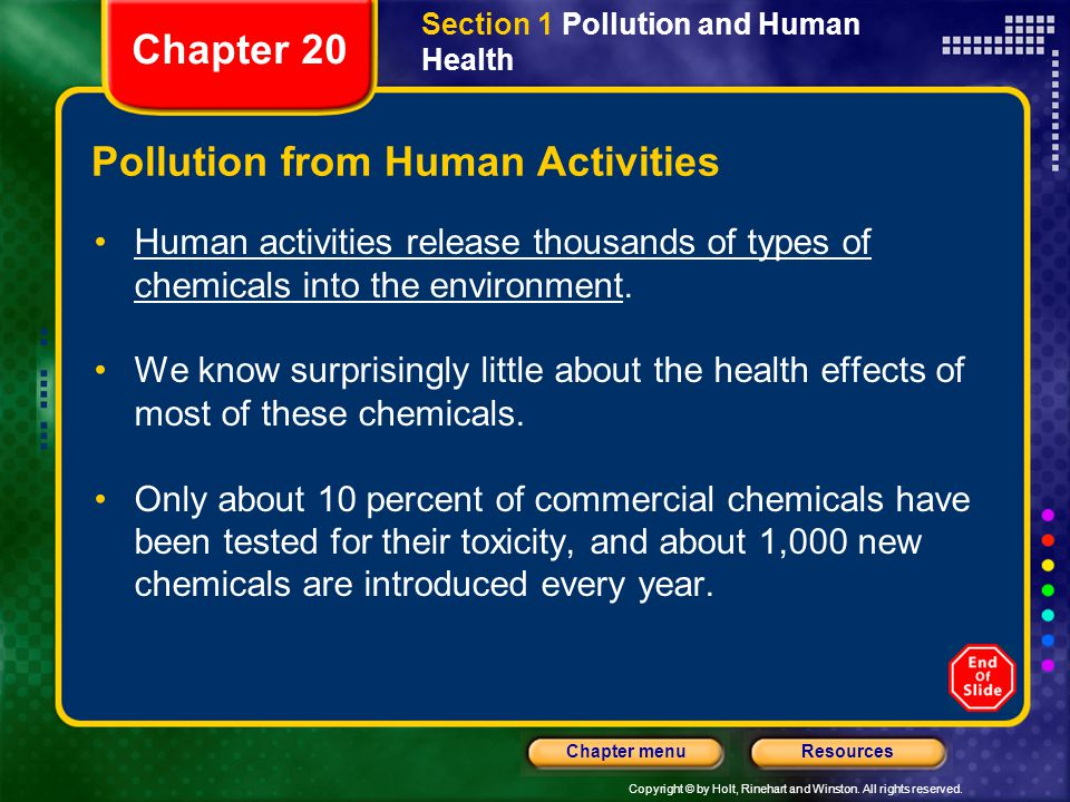 Pollution from Human Activities