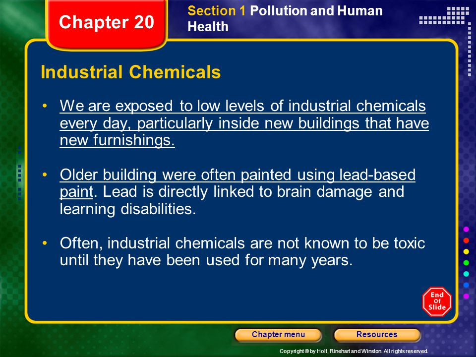Chapter 20 Industrial Chemicals