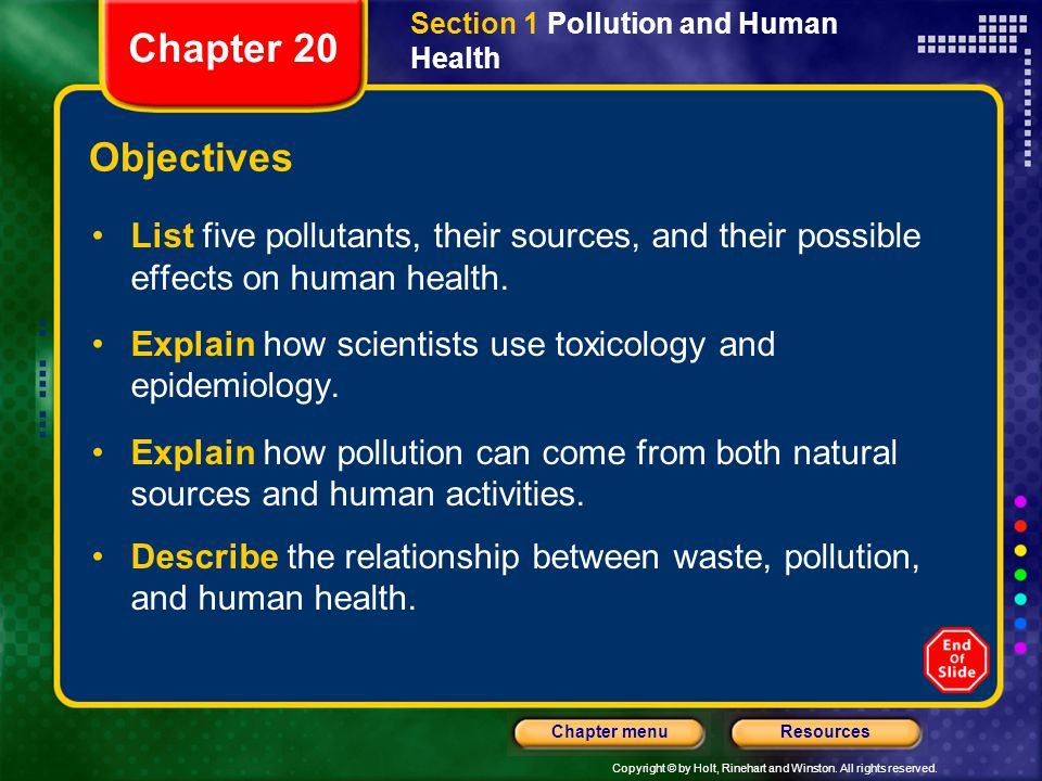 relationship between environment and health ppt presentations