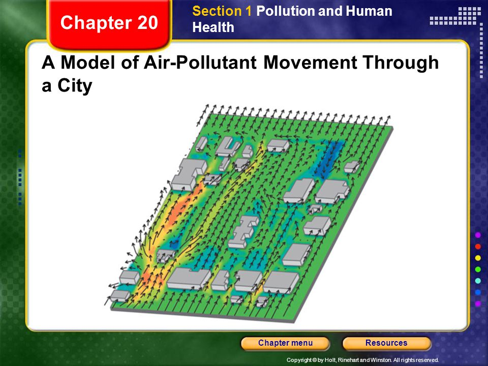 A Model of Air-Pollutant Movement Through a City