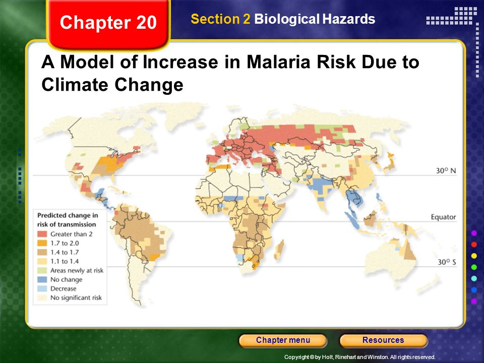 A Model of Increase in Malaria Risk Due to Climate Change