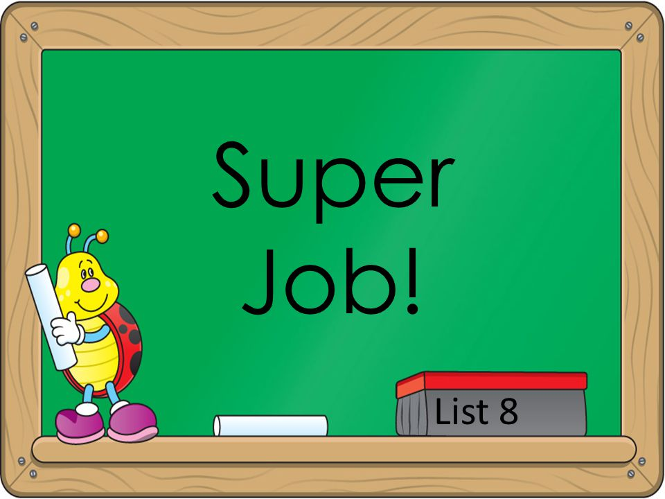 Super Job! List 8