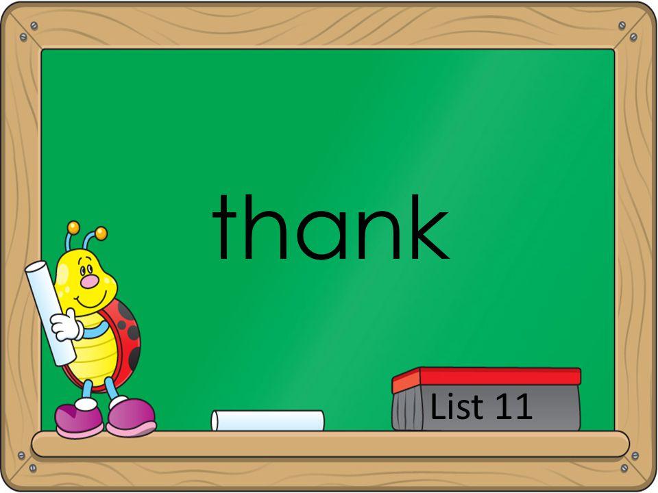 thank List 11