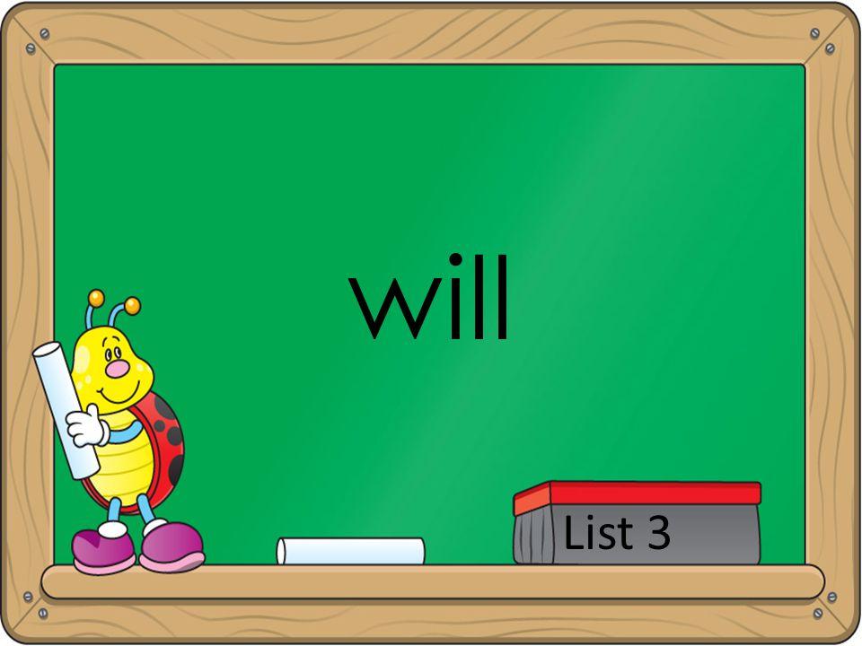 will List 3