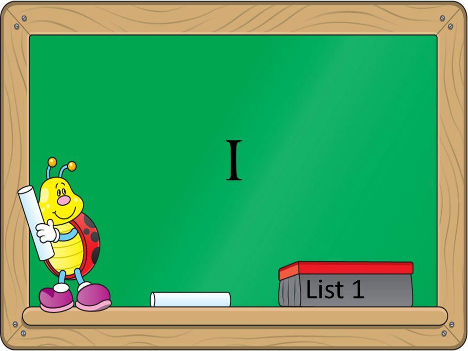I List 1