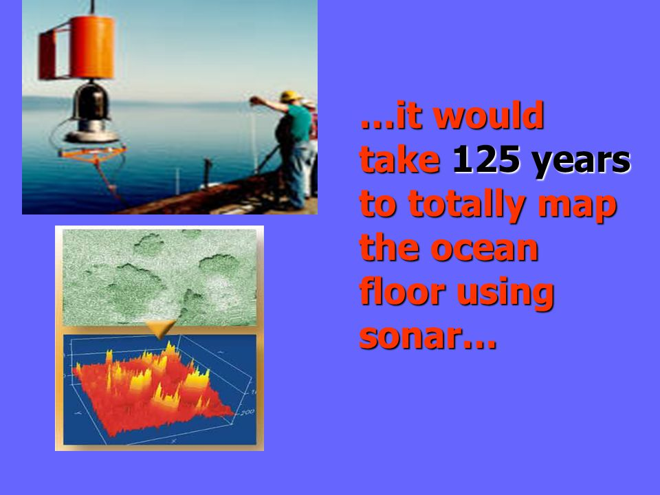 …it would take 125 years to totally map the ocean floor using sonar…