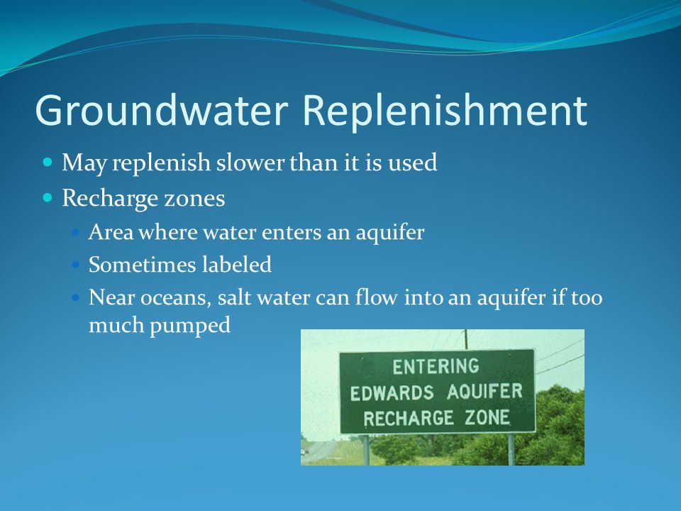 Groundwater Replenishment