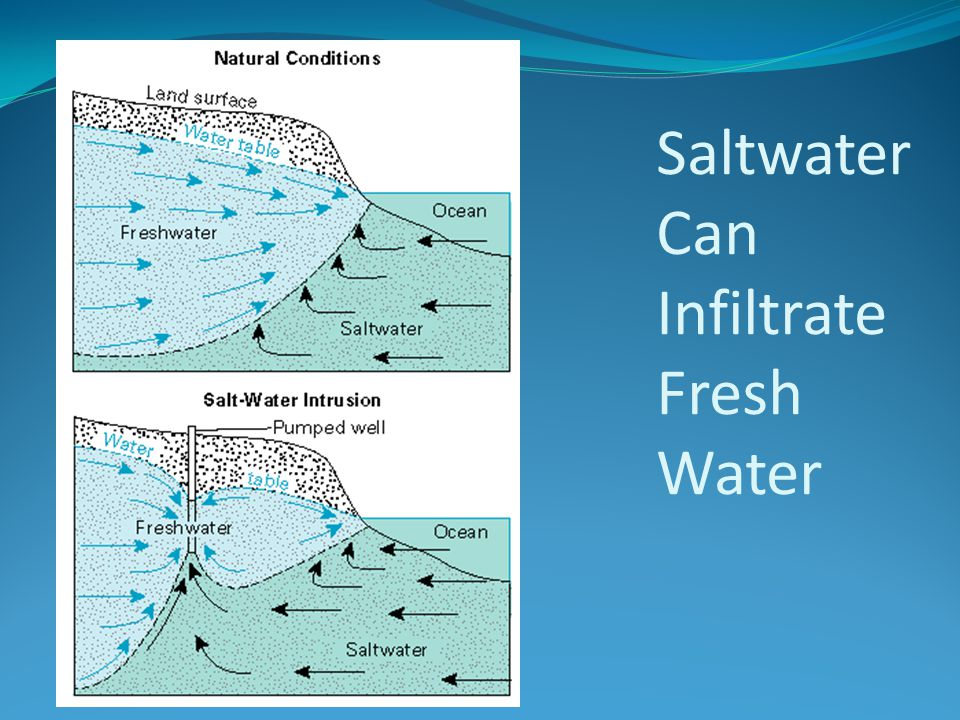 Saltwater Can Infiltrate Fresh Water