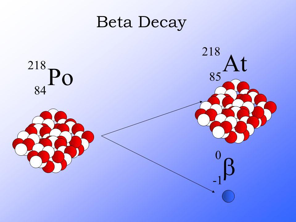 Beta Decay b -1 At 218 85 Po 218 84