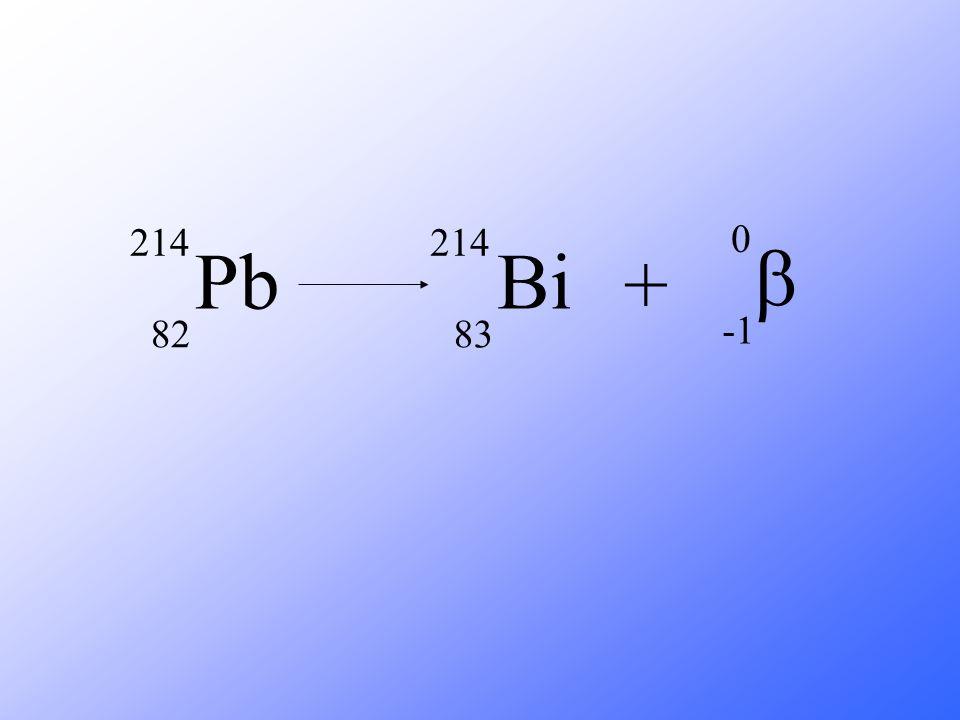 Pb 214 82 Bi 83 + b -1