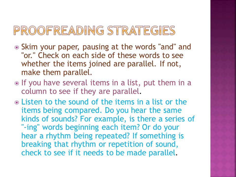 Proofreading Strategies